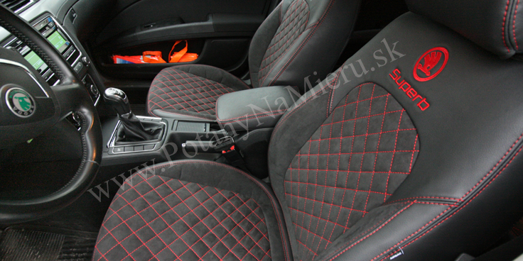 Autopoťahy pre Škoda Superb II., Exclusive Alcantara collection