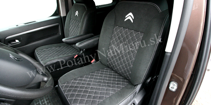 Autopoťahy pre Citroen Spacetourer 2018, Exclusive Alcantara collection